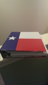 What? Isn't your house binder decorated with your state flag?